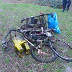 Müll der aus dem Teich entfernt wurde