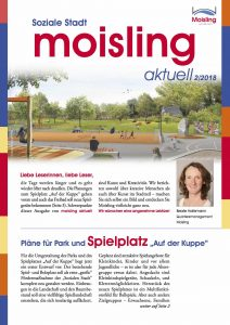Titelblatt der Stadtteilzeitung moisling aktuell